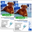12 MONTH Advantage Flea Control Blue: For Dogs Over 55lbs.