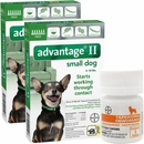 12 MONTH Advantage II Flea Control for Small Dogs (under 10 lbs) + Tapeworm Dewormer for Dogs (5 Tablets)