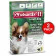 12 MONTH K9 Advantix II GREEN for Small Dogs (upto 10 lbs)