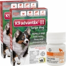 12 MONTH K9 Advantix II RED for Large Dogs (21-55 lbs) + Tapeworm Dewormer for Dogs (5 Tablets)