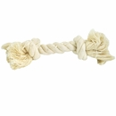 2 Knot White Tug Rope Bone - Medium (7 inch)
