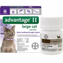 2 MONTH Advantage II Flea Control for Large Cats (over 9 lbs) + Tapeworm Dewormer for Cats (3 Tablets)