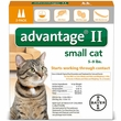 2 MONTH Advantage II Flea Control for Small Cats (5-9 lbs)
