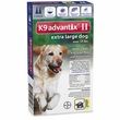 2 MONTH K9 Advantix II BLUE for Extra Large Dogs (over 55 lbs)