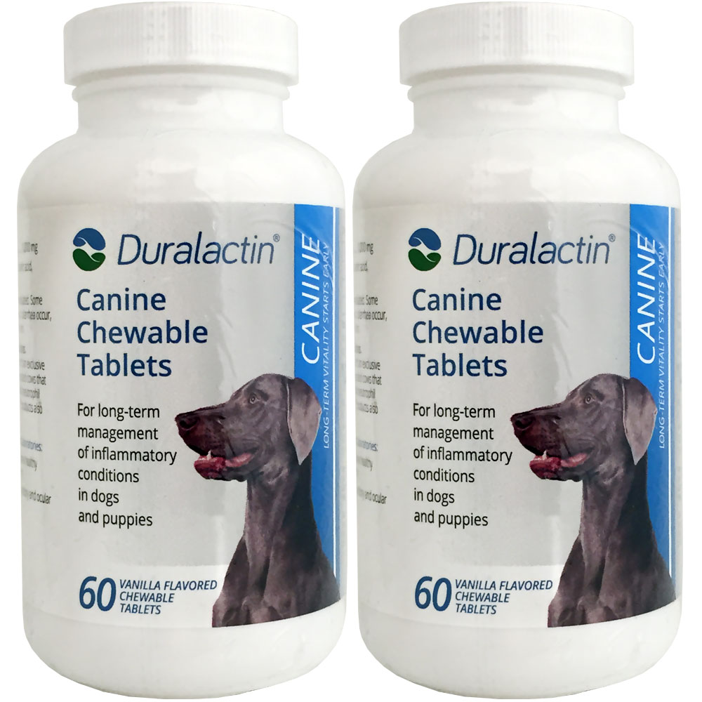 2-PACK Duralactin Canine 1000 mg (120 Tablets)
