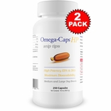 2-PACK Omega-Caps HP snip tips for Medium & Large Dogs (500 Capsules)
