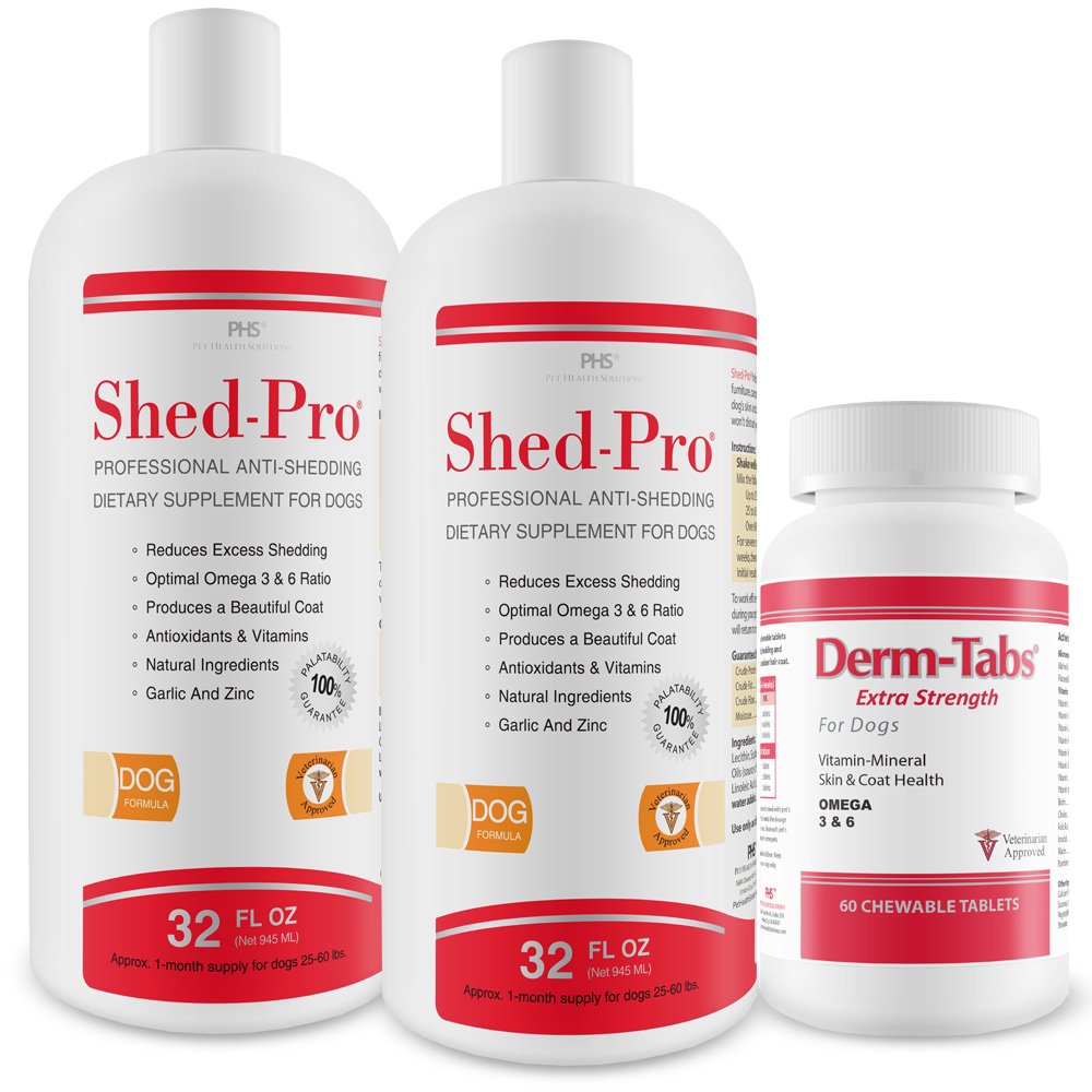 2-PACK Shed-Pro (64 fl oz) with Derm-Tabs ES (60 Tablets)
