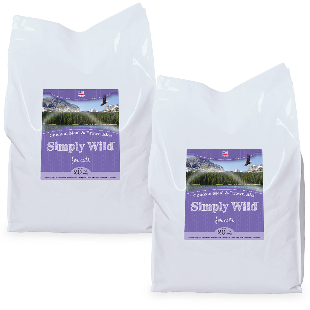 2-PACK Simply Wild Chicken Meal & Brown Rice Cat Food (40 lbs)