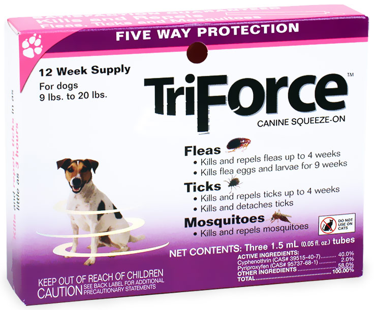 3 MONTH TriForce Pink for DOGS 9-20 lbs
