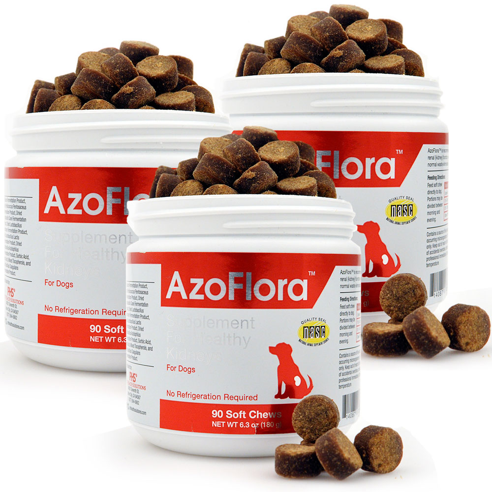 3-PACK Azoflora™ Kidney Support (270 Soft Chews)