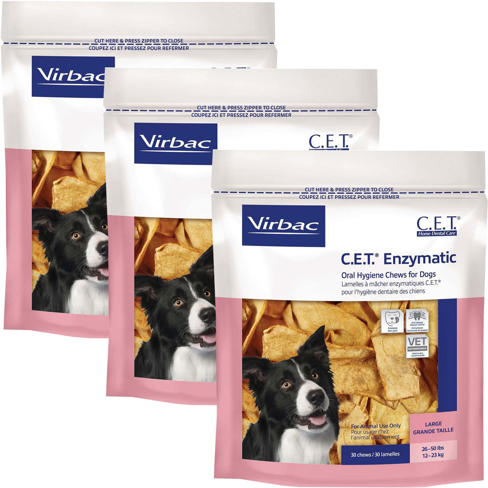 3-PACK CET Chews for Large Dogs (90 chews)