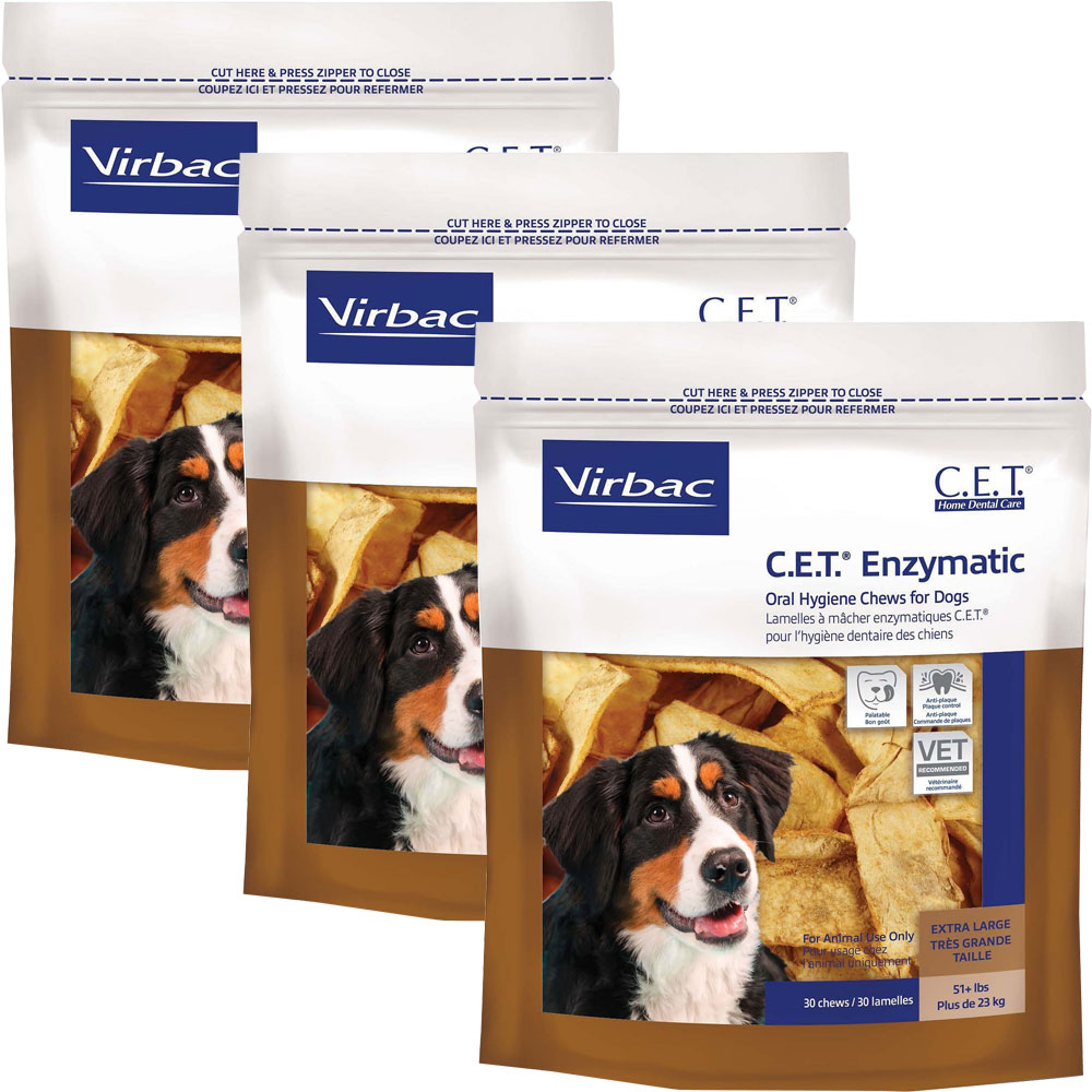 3-PACK CET Chews for X-Large Dogs (90 Chews)