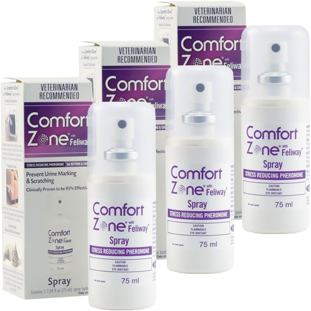 3-PACK Comfort Zone Feliway Spray (225 mL)
