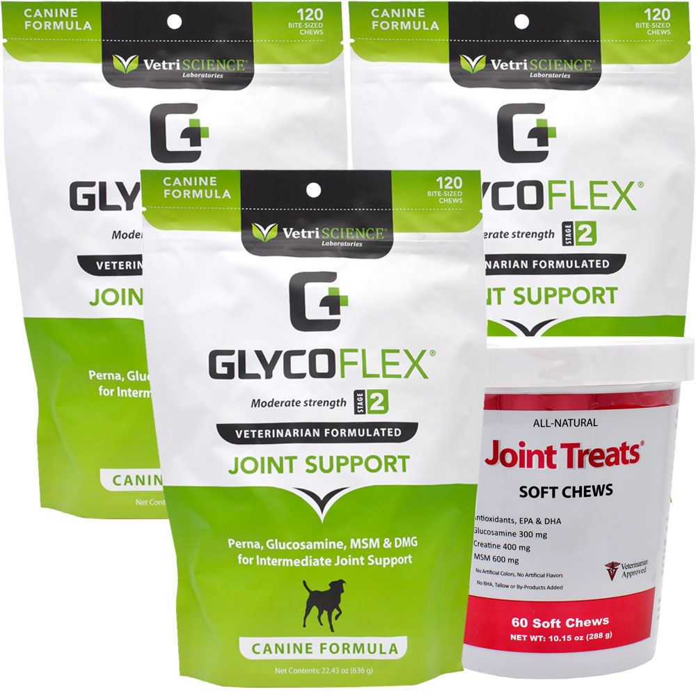 3-PACK GlycoFlex 2 (360 Soft Chews) + FREE Joint Treats!