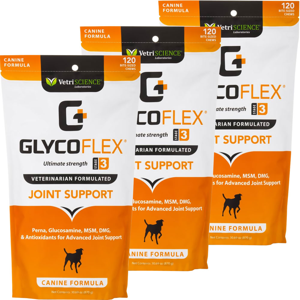 3-PACK GlycoFlex 3 Canine (360 Soft Chews)