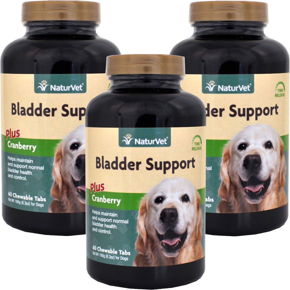3 - PACK Naturvet Bladder Support Plus Cranberry Time Release (180 Chews)