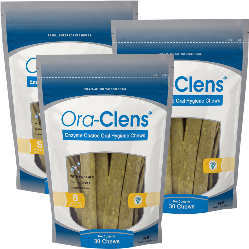 3-PACK-ORA-CLENS-ORAL-HYGIENE-CHEWS-SMALL-90-CHEWS