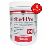 3-PACK Shed-Pro Granules for Dogs (120 Servings)