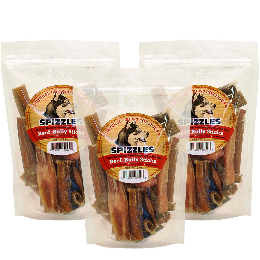 3-PACK Spizzles Beef Bully Sticks (24 oz)