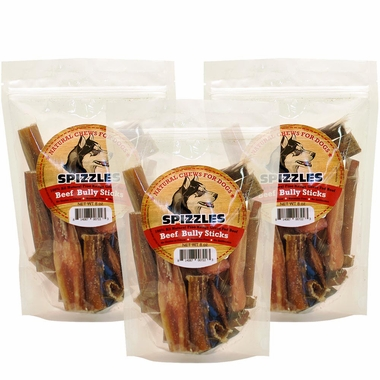 3 pack spizzles beef bully sticks 24 oz entirelypets. Black Bedroom Furniture Sets. Home Design Ideas