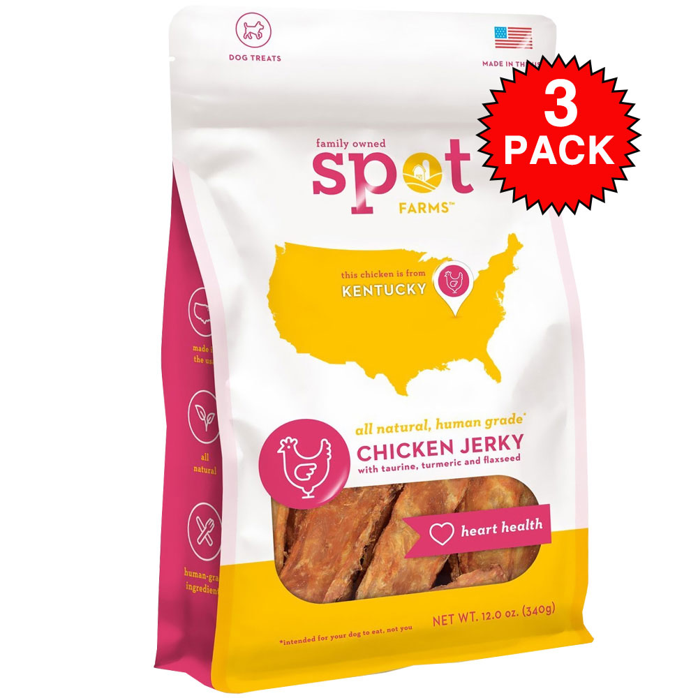 3-PACK Spot Farms Chicken Jerky - Heart Health (36 oz)