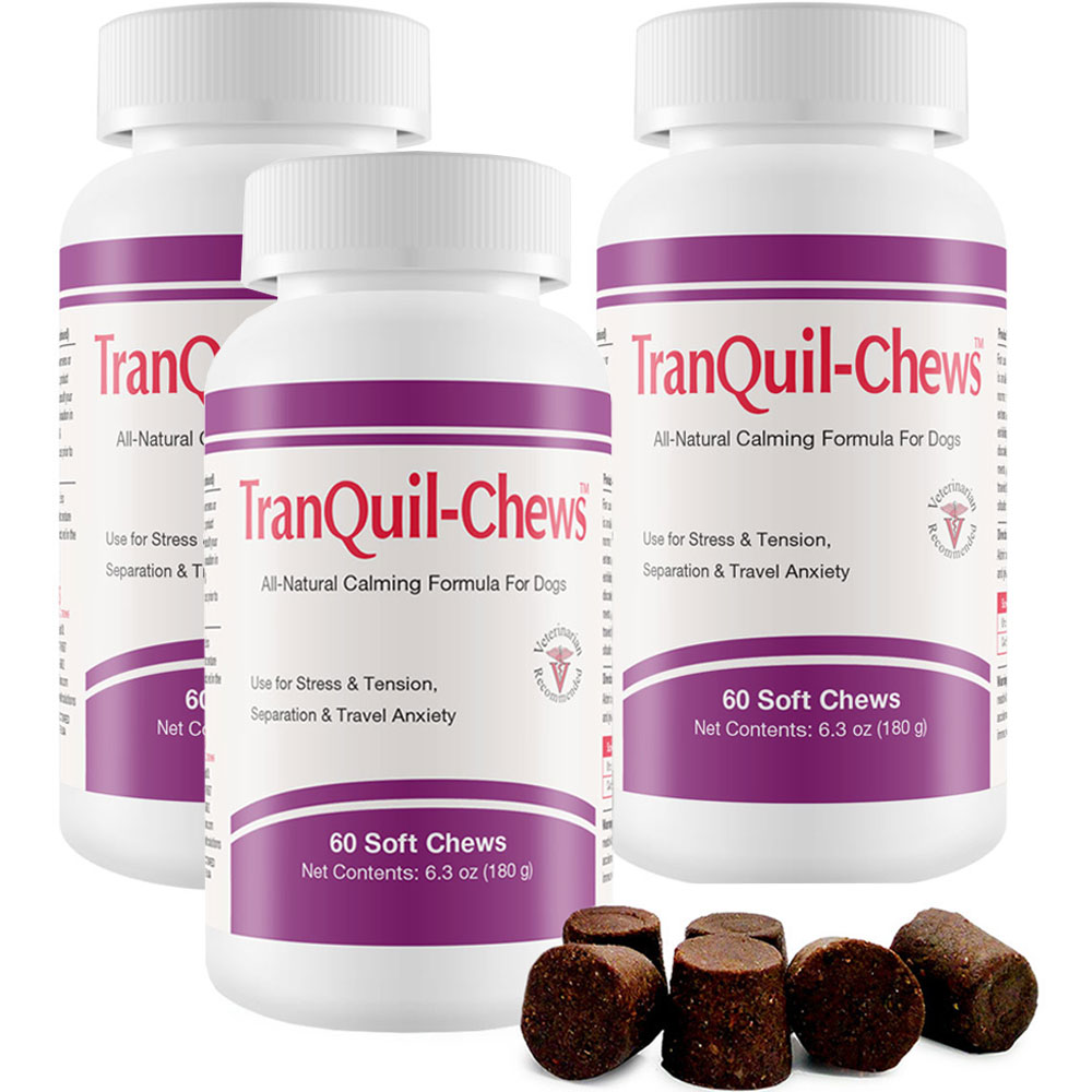 3 PACK TranQuil-Chews™ for Dogs (180 Soft Chews)