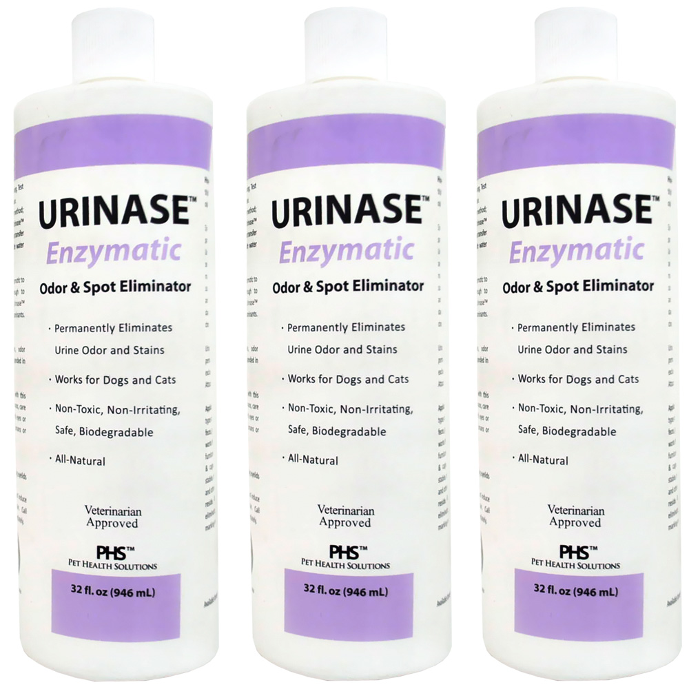 3-PACK URINASE Enzymatic Odor & Spot Eliminator (96 fl oz)