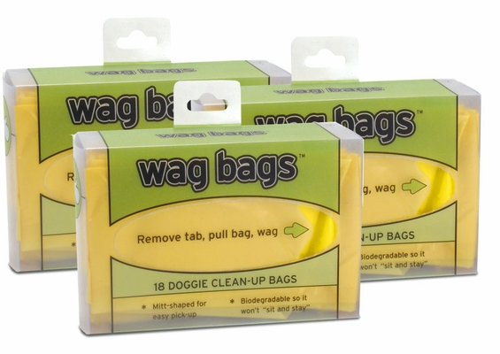 3 PACK Wag Bags Doggie Clean-up Bags - 54 Count