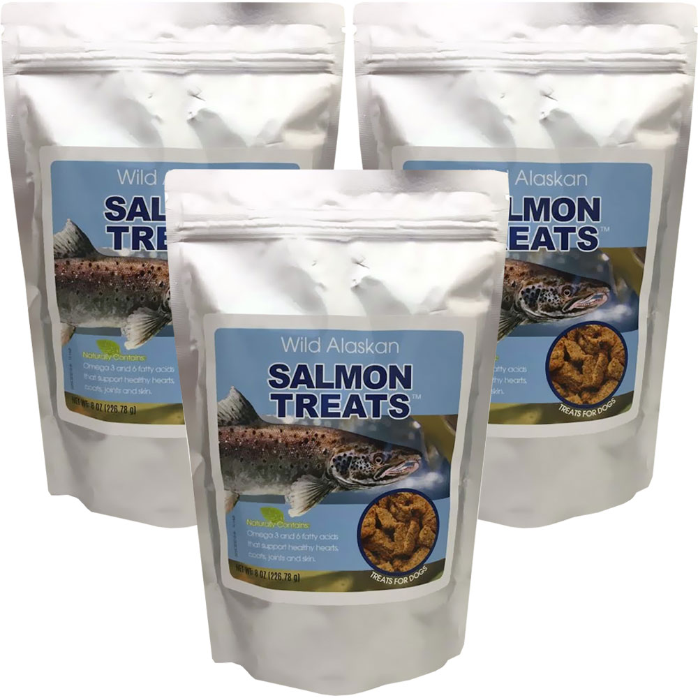 3-PACK Wild Alaskan Salmon Treats (24 oz)
