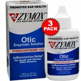 3 PACK Zymox Otic (1.25oz) with Hydrocortisone (1.0%)