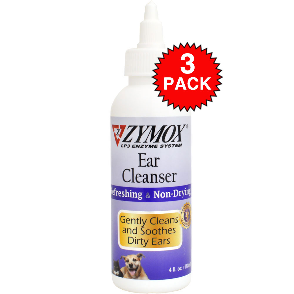 3-PACK Zymox Retail Ear Cleanser (12 oz)