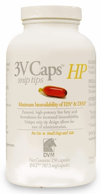 3V Caps HP SNIP TIPS for SMALLER DOGS & CATS(250 Caps, 787.5 mg/capsule)