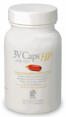 3V Caps HP SNIP TIPS for SMALLER DOGS & CATS (60 Caps, 787.5 mg/capsule)