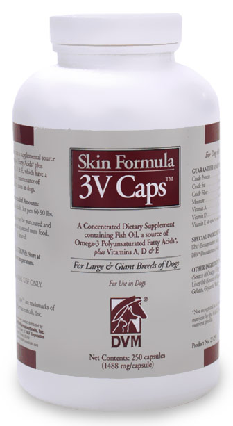 3V Caps Skin Formula for Large/Giant Breeds (250 caps)