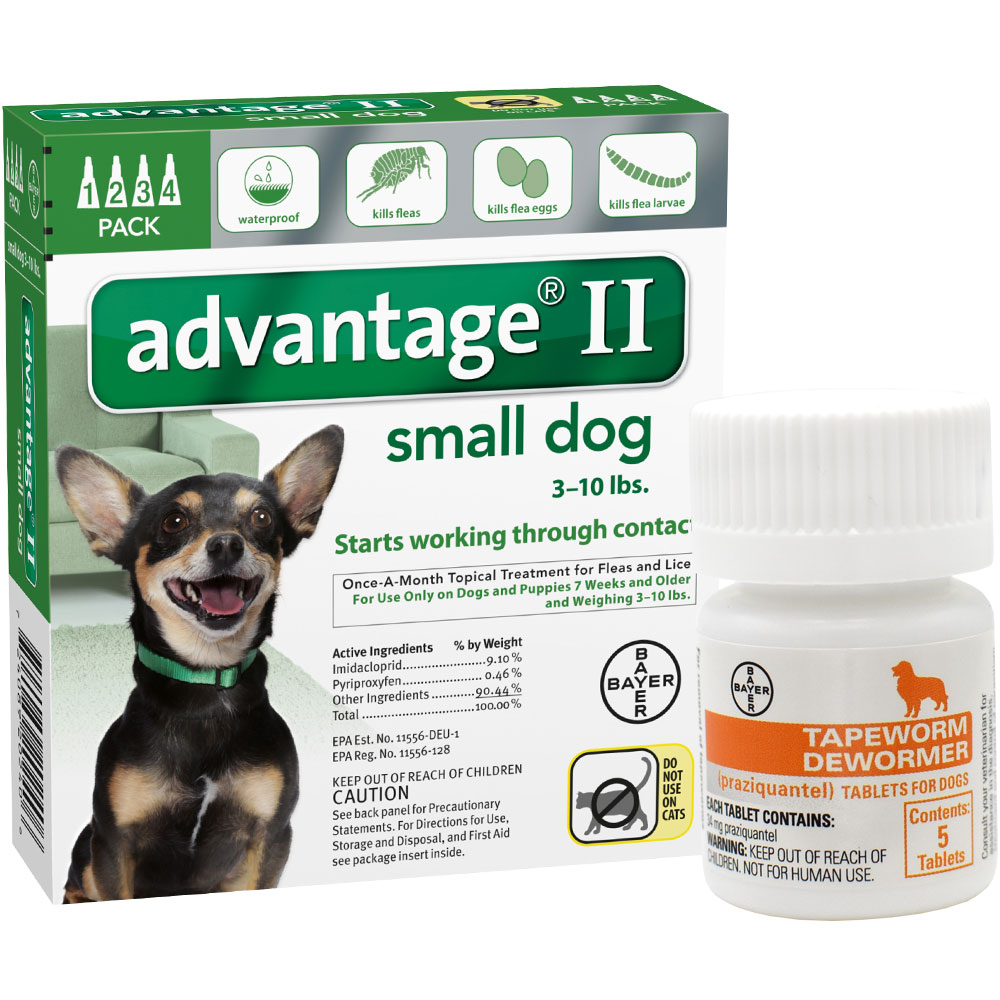 Advantage Ii Small Dog   Lbs  Pack