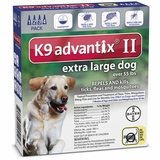 4 MONTH K9 Advantix II BLUE for Extra Large Dogs (over 55 lbs)