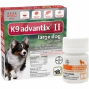 4 MONTH K9 Advantix II RED for Large Dogs (21-55 lbs) + Tapeworm Dewormer for Dogs (5 Tablets)