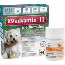 4 MONTH K9 Advantix II TEAL for Medium Dogs (11-20 lbs) + Tapeworm Dewormer for Dogs (5 Tablets)