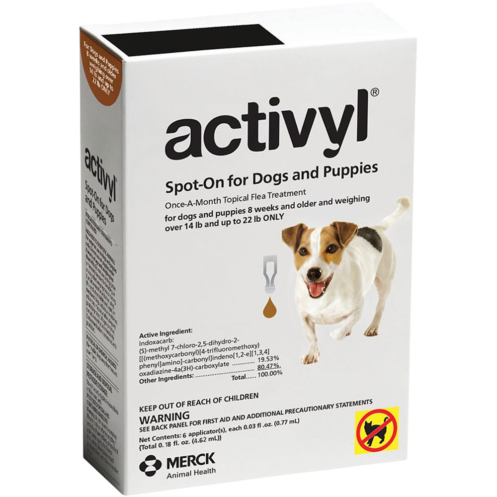 6 MONTH Activyl Spot-On for Small Dogs & Puppies (14-22 lbs)
