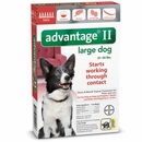 6 MONTH Advantage II Flea Control for Large Dogs (21-55 lbs)