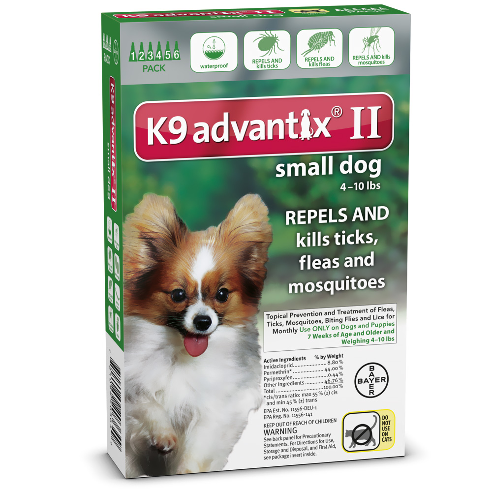6 MONTH K9 Advantix II GREEN for Small Dogs (upto 10 lbs)