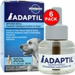 6 PACK ADAPTIL (DAP) Dog Appeasing Pheromone REFILL (288mL)
