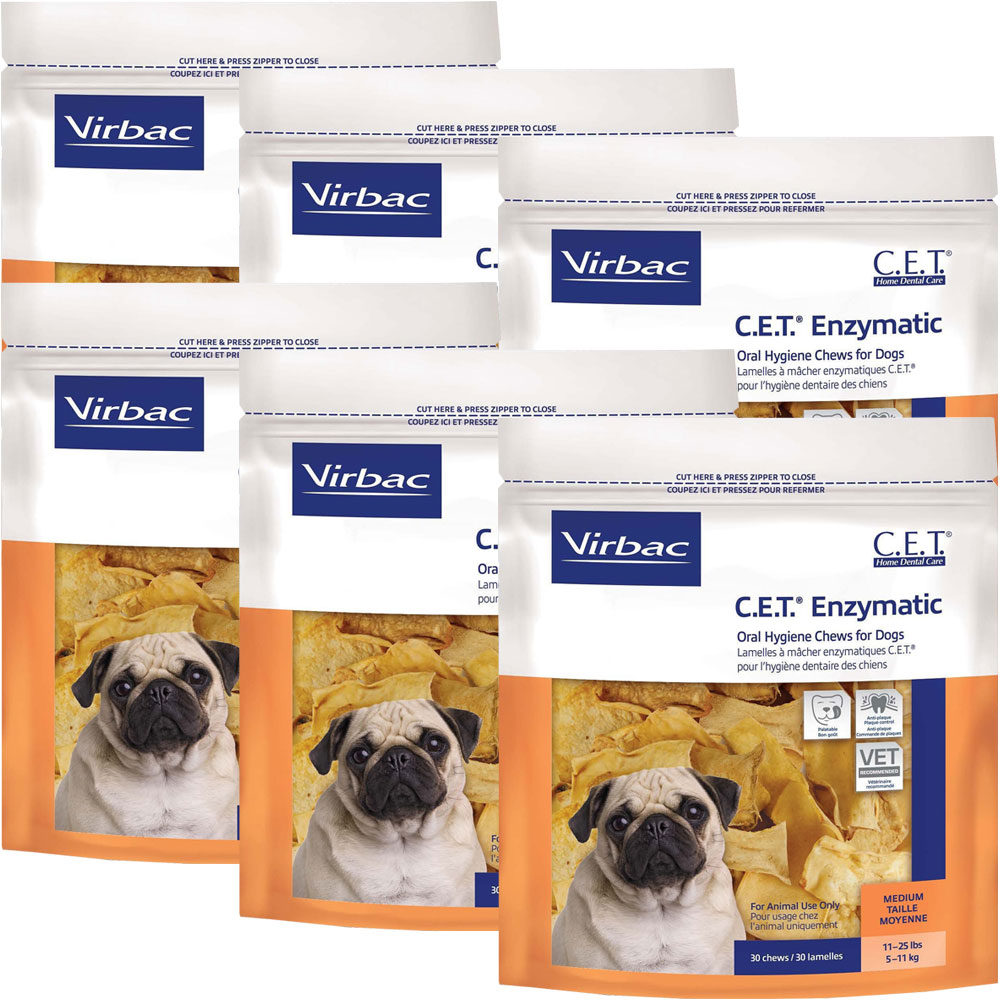 6-PACK CET Chews for Medium Dogs (180 Chews)