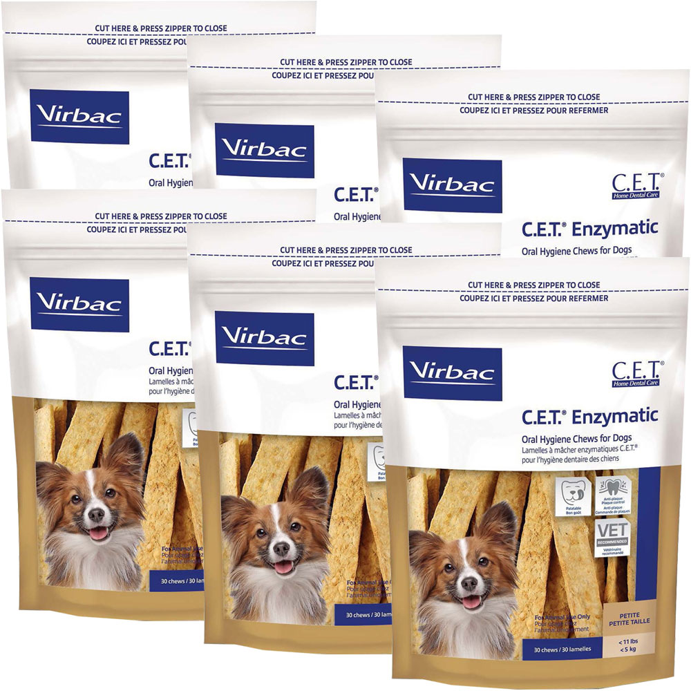 6-PACK CET Chews for Small Dogs (180 chews)