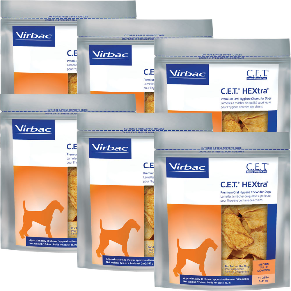 6-PACK CET HEXtra Premium Chews - Medium (180 chews)