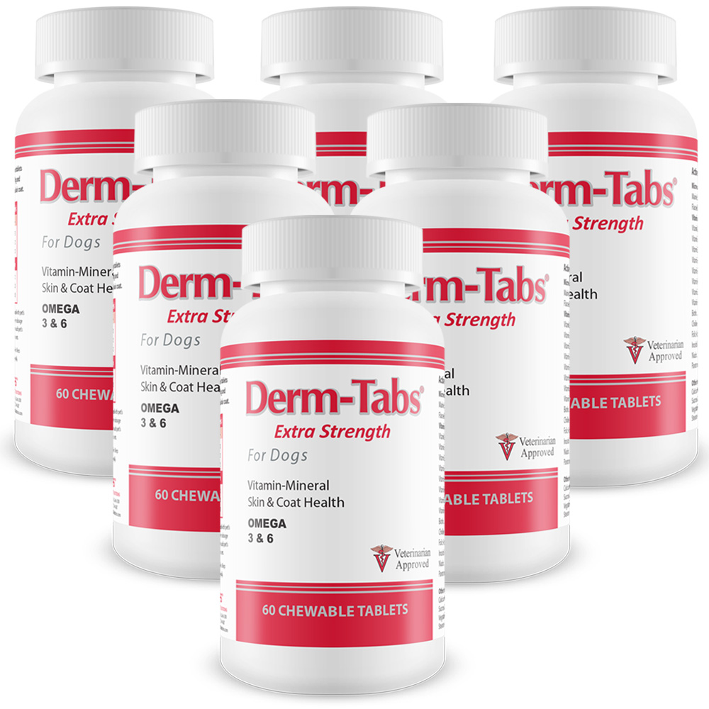 6-PACK Derm-Tabs Extra Strength for Dogs (360 Chewable Tablets)