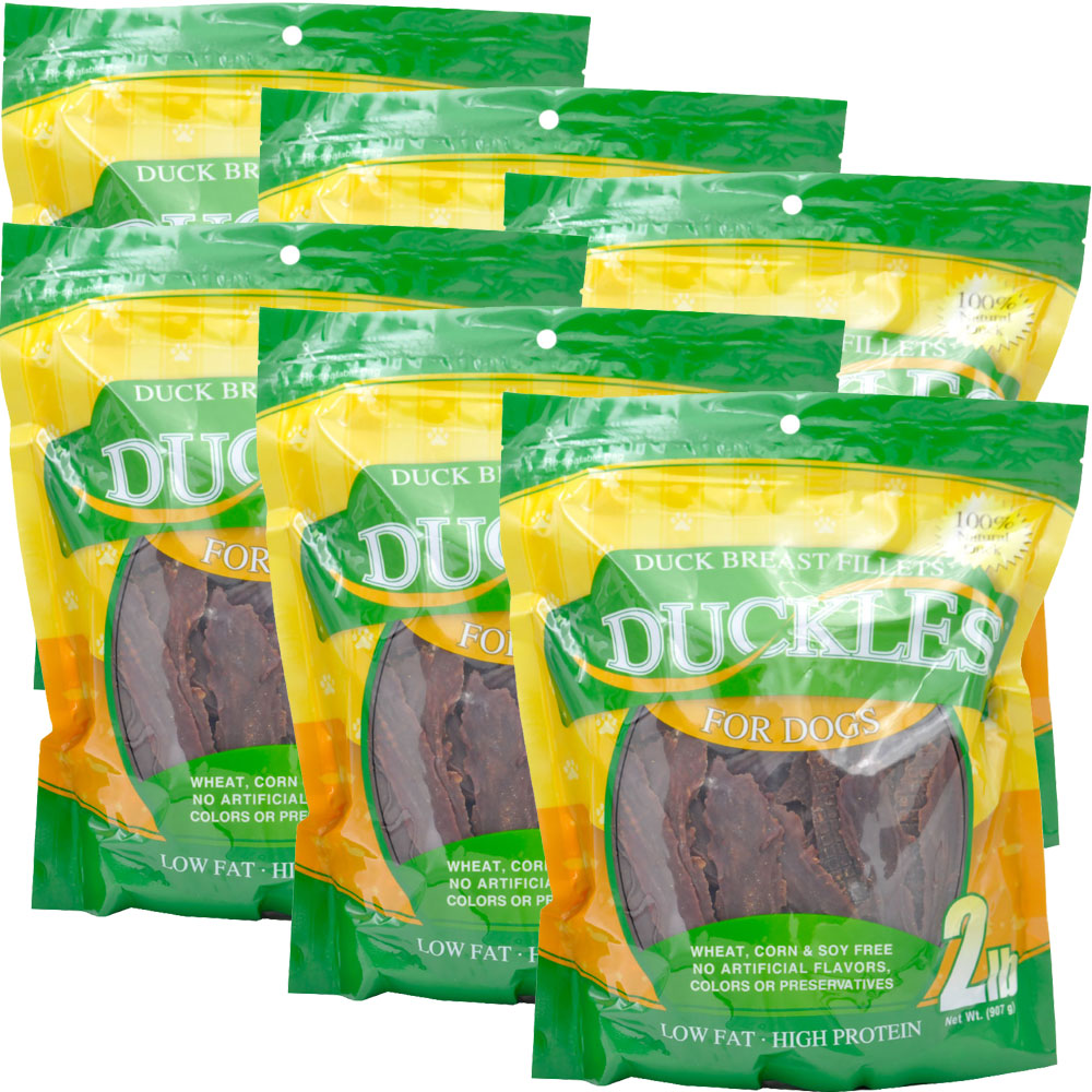 6-PACK Duckles Duck Breast Fillets for Dogs (12 lb)