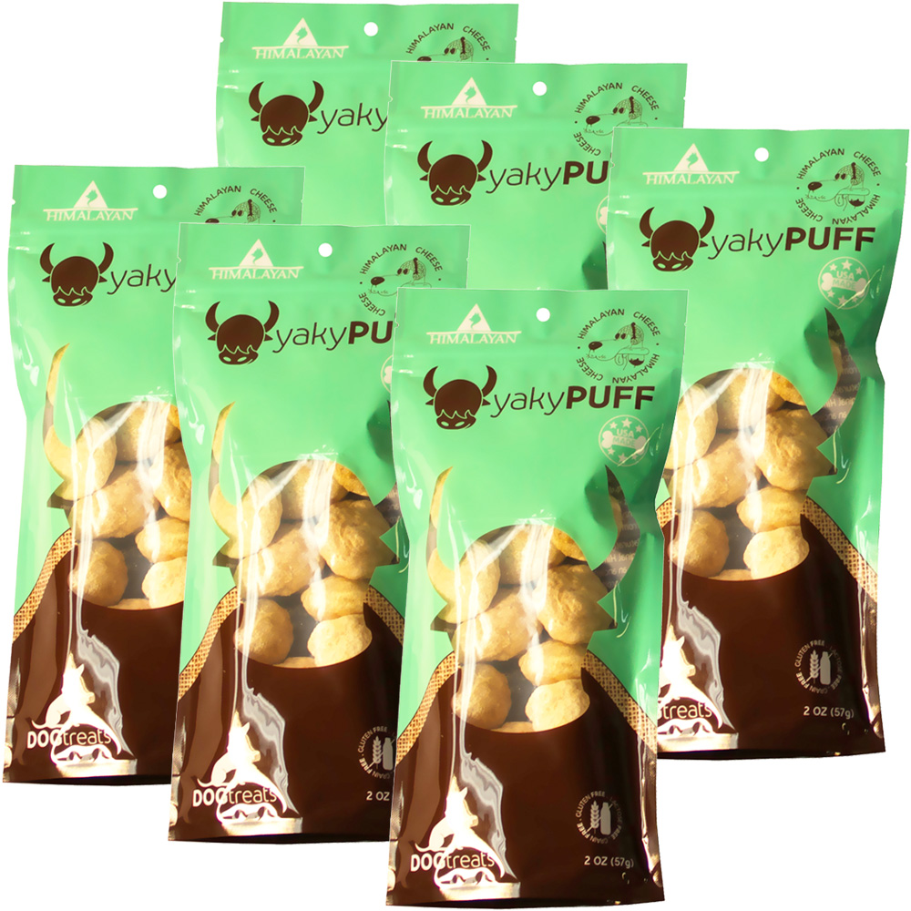 6-PACK Himalayan Dog Chew - yakyPuff Cheese (12 oz)