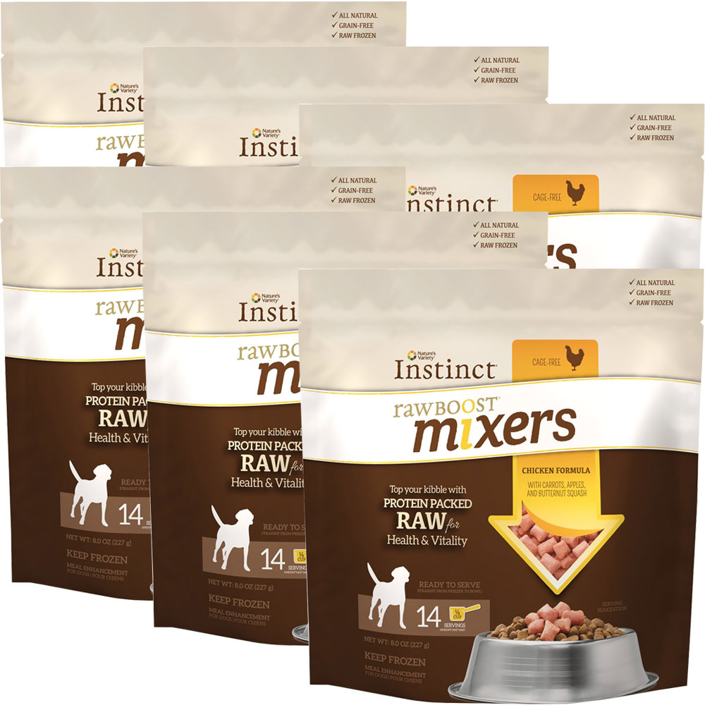 6-PACK Instinct Raw Boost Frozen Mixers - Chicken (48 oz)