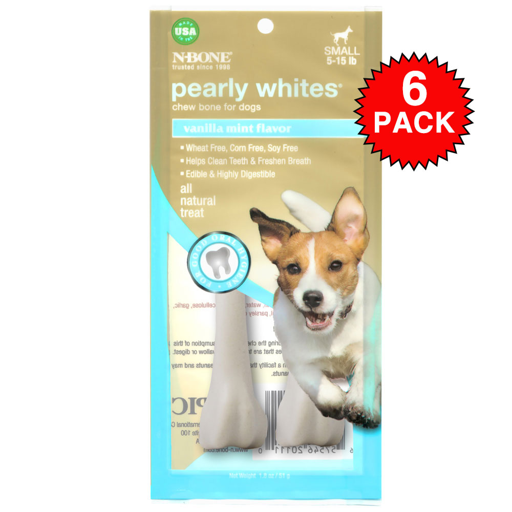 6-PACK N-Bone Pearly Whites - Small